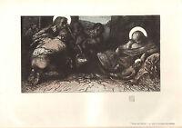 1904 Studio Aufdruck ~ The Christi Geburt Von Sir Charles Holroyd