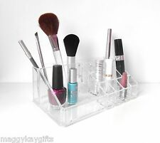 Cosmetic Brush & Makeup Organiser - Clear Acrylic Bathroom Bedroom Storage