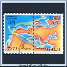 1990 Italia Repubblica Manifestazioni Colombo Coppia Us