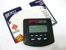 BICYCLE SOLITAIRE TIGER ELECTRONIC HANDHELD GAME +INSTRUCTION *WORKS*