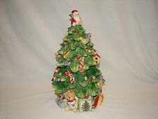 New in Box SPODE Christmas Tree with Santa Cookie Jar ~ Great Christmas Gift