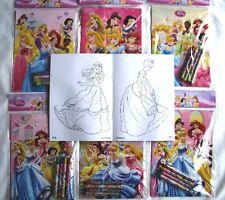 Lot 12 Disney Princess Coloring Book Crayon Birthday Party Favor Bag Fillers