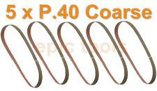 FAITHFULL 5 x P40 Coarse 455mm x 13mm Belts, Fit Black & Decker KA900E Powerfile