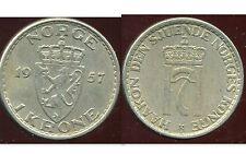 NORVEGE  1 krone 1957