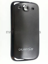 New S3 (BLACK) Chrome  Battery Back  Cover Case Housing For Galaxy S3 i9300 -US