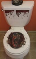 Halloween Toilet Seat Grabber Cover Scary Horror Party Decoration Topper