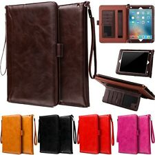 Flip Leather ID Wallet Card Smart Case Cover For Apple iPad Mini /Air /Pro 9.7''