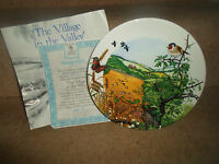 The Village In The Valley By Colin Newman ~ Josiah Wedgwood Plate + Certificate
