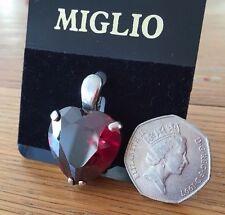 Solo San Valentín regalo Swarovski Cristal Rojo Corazón Colgante EN488 Plata BNWT