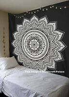 Ombre Indian Mandala Tapestry Wall Hanging Hippie Queen Throw Cotton Bedspread