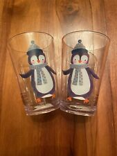 Pottery Barn Kids Merry and Bright Penguin Tumblers/Cups Set of 2 NEW Christmas