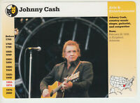 JOHNNY CASH Country Singer Musician 1997 GROLIER STORY OF AMERICA CARD #116-20