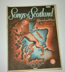 Vintage Songs of England and Scotland selected by Granville Bantock Book 1