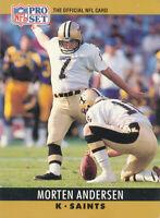 Morten Andersen 1990 Pro Set #210 New Orleans Saints Football Card