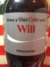 Share A Diet Coke With Will Limited Edition Coca Cola Bottle 2014 USA