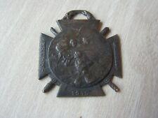 insigne de journee de poilus  1915 argent massif marne yser verdun somme (7001)