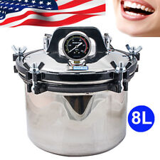 8L High Pressure Steam Sterilizer Medical Dental Lab Autoclave Sterilization USA