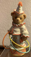 Cherished Teddies 2004 Le Figurine, Lyndon, Clown, Circus, Hoops, 4001899, Used
