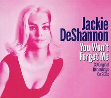 JACKIE DeSHANNON YOU WON'T FORGET ME - 2 CD BOX SET - 30 ORIGINAL RECORDINGS