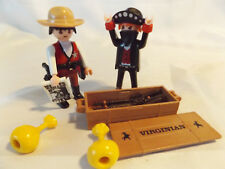 Playmobil Retired Western Sheriff w/ Bad Guy, Guns, Gold, Cowboys for Jail, Fort