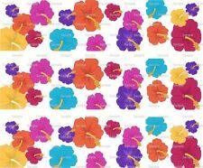 Hibiscus Flowers ~ Edible Cake Image Topper ~ 1/4 Sheet Designer Strips D6485