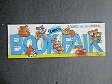 1994 Bookmark LEEDS Bookfair Pudsey Civic Centre Teddy Bears Reading Books