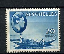 Seychelles 1938-49 KGVI SG#140, 20c Blue MH #A52451