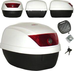 Universal Polypropylene Motorcycle Motorbike Scooter  Luggage Box Top Case White
