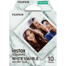 Fuji INSTAX SQ WHITE MARBLE Instant Film - 10 Pictures - Dated 12/2021