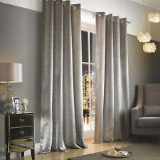 Kylie Minogue at Home Adelphi Caramel/truffle/mist Lined Eyelet Curtains 66in X 72in Mist