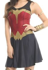 DC COMICS HER UNIVERSE WONDER WOMAN MOVIE AMAZON REVERSIBLE COSPLAY DRESS MD NWT