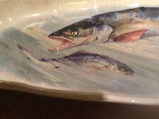 Old Simon Pure Beer vtg fish advertising plate platter