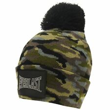 Everlast Mens Pom Beanie Bobble Hat Silicone Knitted