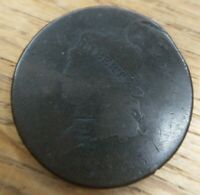 1813 Classic Head Large Cent Rare Date About Good AG Detail Minor Damage/Bend
