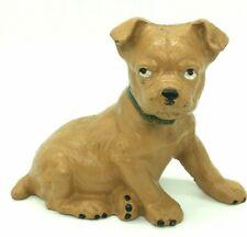 Vintage Cast Iron Boston Terrier Puppy Dog Bank Figure Home Decoration