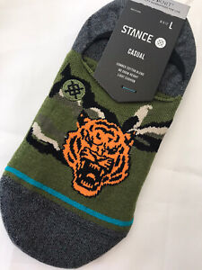 STANCE  CASUAL COTTON BLEND  NO SHOW SOCKS  'BIG CAT'  SIZE L (9 to 12), NWT