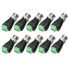 5 Pcs Male Coax To Coaxial BNC Cable Connector adapter Camera CCTV Video Balun