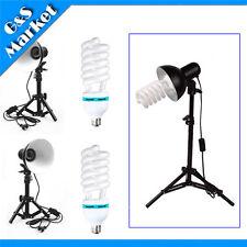 2pcs continuous lighting lamp shade+stand+Studio Light bulb Photography kit