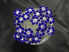 20 Pcs FLOWER Royal Blue  Diamante Wedding Bridal Prom Events Parties Hair Pins