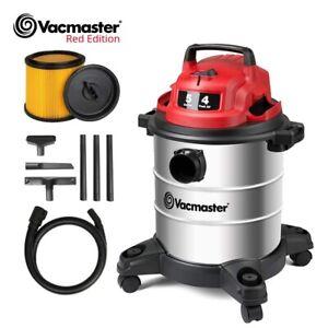Vacmaster Edition Wet/Dry Car Shop Vacuum 5 GAL 4 Peak HP Stainless Steel Tank