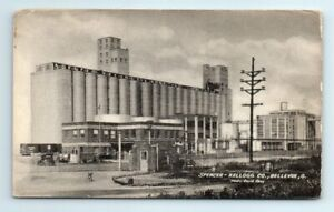 Spencer Kellogg Co Bellevue Ohio linseed oil mill Factory B&W Postcard Unposted