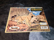 Puzzled 3-D Coyote Wooden Puzzle Sealed Wood Craft Construction Kit