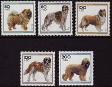 WEST GERMANY MNH STAMP SET BUNDESPOST YOUTH WELFARE DOGS 1996 SG 2696 - 2700