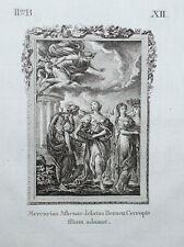 c1790 Ovid Metamorphoses Mercury Merkur and Herse Original-Kupferstich