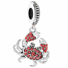 Genuine CHAMILIA 925 Silver & Swarovski Crystal CLAWS CRAB  Bead Charm CANCER