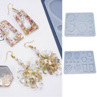 Silicone Jewelry Making Mold Earring Pendant Resin Casting Epoxy Mould Tool DIY
