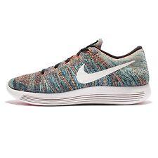 Nike LUNAREPIC Flyknit Running Shoes Mens 12 Black Summit Blue Glow 843764 003