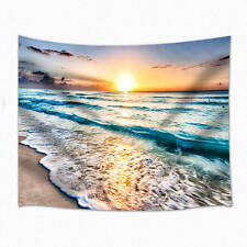 Sunrise beach Tapestry Wall Hanging for Living Room Bedroom Dorm Decor