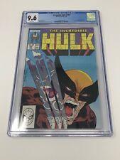 Incredible Hulk 340 CGC 9.6 - Classic McFarlane Cover!!!!!-- Hulk vs Wolverine!!