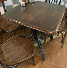 More details for job lot 29 dark wooden tables & 84 bistro chairs pub cafe restaurant. up-cycle
